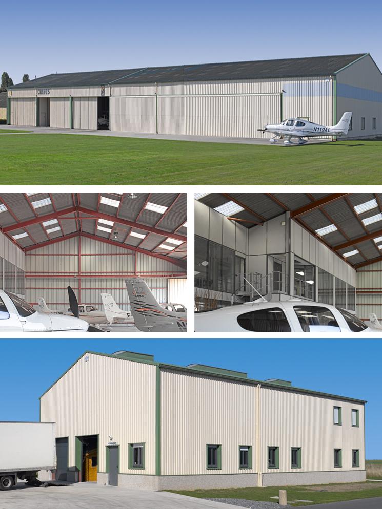 construction hangars à avion