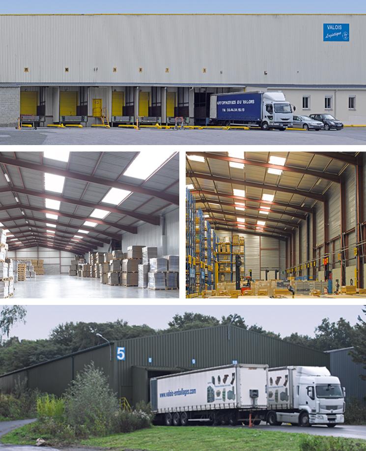 Bâtiments logistiques de stockage